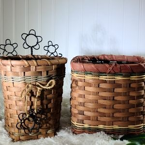 🌵Boho Wicker Rattan 2 Piece Set